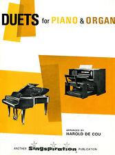 Harold DeCou: Hymn & Gospel Song Duets for Advanced Church Organ and Piano 1964