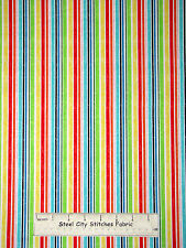 Multicolor Stripe Kids Forest Friends Cotton Fabric Red Rooster Fabrics YARD