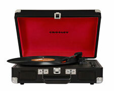 Crosley Cruiser Portable 3-Speed Turntable w/Bluetooth -BK Acceptable Condition!