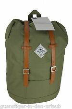 TCM Tchibo Heritage Canvas Zaino Backpack Zaino Cachi