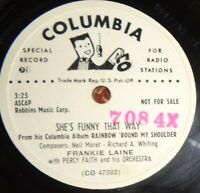 Frankie Laine 78 Rainbow Round My Shoulder / She's Funny That Way EE- B10
