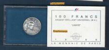 Boîtiers FDC, BU, BE de pièces de monnaie françaises en argent 100 Francs