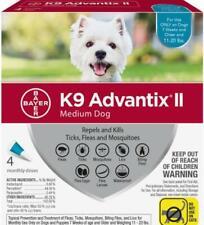 K9 Advantix II for Medium Dogs 11-20 lbs (4 ct) Flea & Tick Treatment (Sealed)