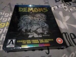 DEMONS (Blu Ray) Arrow new sealed 2012. Slipbox, Booklet, Poster, Comic