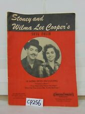 STONEY AND WILMA LEE COOPER'S SONG FOLIO WALLACE FOWLER PUBLICATIONS 1946