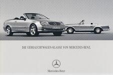 Mercedes Voiture D'occasion CLK c209 w211 w203 prospectus brochure 2004 79
