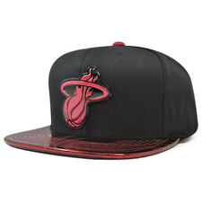 3fa81aff8cf Miami Heat Team Standard Radiation Snapback Mitchell   Ness NBA Hat- Black