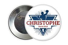 Badge Pin Button 38 mm Christophe Gilet Jaune Paris 2019
