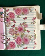 A5 Filofax Organiser Dividers in Beautiful Rose & Stripe - Fully Laminated