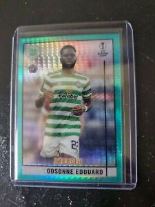 2020-21 Topps Merlin Chrome UEFA Odsonne Edouard Rookie Aqua Prism #94 Celtic FC