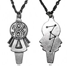 Doctor Who New Series Tardis Key Pendant Logo Chain Necklace