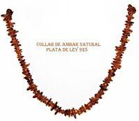 COLLAR de ÁMBAR NATURAL del BÁLTICO  y PLATA de LEY 925 43-44 cm. con Estuche