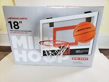 "Goaliath 18"" x 12"" Mini Basketball Hoop Pro-Grade Backboard & Breakaway Rim"