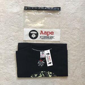AAPE by a bathing ape t-shirt black medium brand new