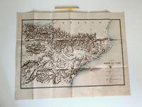 1875 -Mappa bacino dell'Ebro al servizio dell'intelligence della guerra carlista