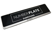 1 x Prestige Chrome Stainless Steel Number Plate Surround for any Lamborghini