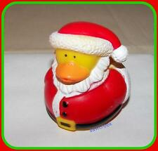 SANTA~~  HOLIDAY/CHRISTMAS RUBBER DUCK~~Decoration~Treat~Favor~Gift~~NEW
