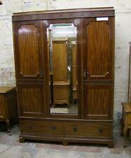 Vintage c1920's Mahogany 3 Door Wardrobe  -  (STOWM3)
