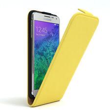 Tasche für Samsung Galaxy Alpha Flip Case Schutz Hülle Cover Gelb