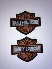 2 x Harley Davidson Patch Aufnäher Skull Biker Motorrad Patches Set Aufbügler