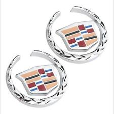 2pcs Cadillac 3D Emblem Badge Graphics Decal Car Sticker SRX ATS CTS XTS