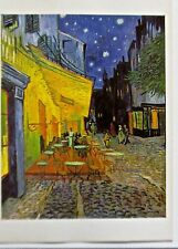 Van Gogh Poster Reprint The Cafe Terrace Offset Lithograph  16x11