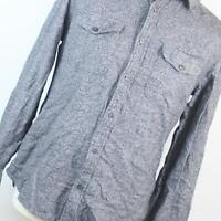 Next Grey Textured Cotton Mens Casual Shirt Size M
