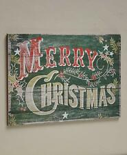 1 Pallet Sign Merry Christmas Pine Vintage Rustic Wall Art Holiday Home Decor