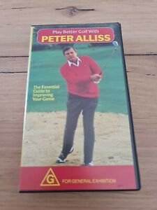 Play Better With Peter Alliss VHS Tape Golf Instructional Video BBC Video 1989