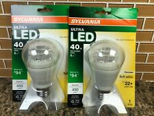 2 Pack Sylvania Ultra LED 40w Dimmable Soft White A19