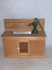 Vintage Miniature Mart Dollhouse Early American KITCHEN SINK with Hand Pump