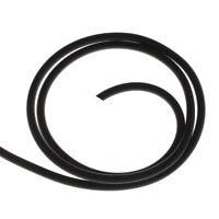 Kautschukband 5mm Schwarz 5 Meter Schmuckherstellung schnur Fäden BEST C10