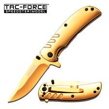 Coltello Tac Force Gold titanium TF847GD Knife Messer Couteau Navaja