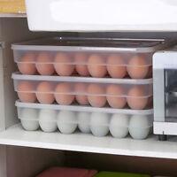 34 Grid Egg Holder Plastic Storage Box Container Organizer Refrigerator Egg Box