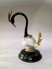 Murano Licio Zanetti? Bird Sculpture Bullicante Glass And Metal Murano Bird