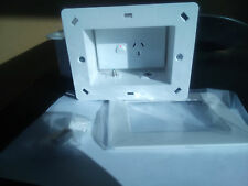 Recessed Power Point Box For TV AV with Single GPO, F to F & PAL to F inserts