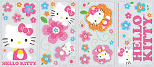HELLO KITTY FLORAL BOUTIQUE WALL DECALS 39 New Cats Stickers Pink Bedroom Decor