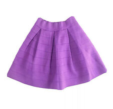 Attention Womens Skirt Small Purple Box Pleat A-line Textured Rubber Party
