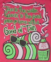 Women's Good Ol' Tan Short Sleeve Pink T-Shirt Girlie Girl Top Sizes XL, 2XL