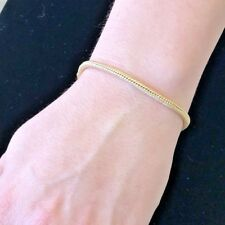 Stunning Classy Lovely Textured Flex 18KY Gold Ladies Italian bracelet