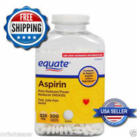 Equate Aspirin Tablets 325 Mg Pain Reliever/Fever Reducer 500 Ct