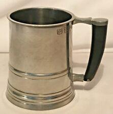 John Somers Vintage Pewter Mug   Marked JS X MG, Brazil   Beer Ale Barware