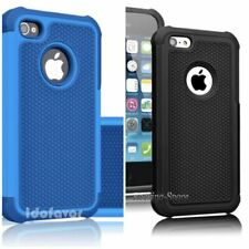 iPhone 5C, Hybrid Rubberized Defender Hard Phone Case in 2 Colors