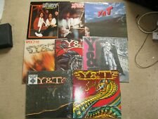 Lot of 8 Y&T Yesterday and Today Vinyl LPs Heavy Metal Same title, Open Fire etc