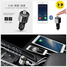 Wireless Bluetooth Car Truck Kit FM Dual USB MP3 Music Player LCD Handsfree T56