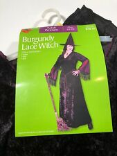 Halloween costumes women (BURGUNDY LACE WITCH ) SALE!!