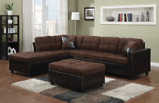 Coaster 505655 Mallory Chocolate Two Tone Reversible Sectional Sofa