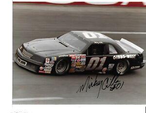 Autographed Mickey Gibbs NASCAR Auto Racing Photograph