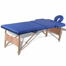 Inklapbare massagetafel 2 zones met houten frame (blauw) massage tafel behandel