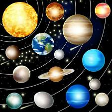 Solar system and space objects photo Hole in wall sticker wall mural 44449697